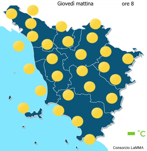 Previsioni meteo Toscana - Oggi - Mattina